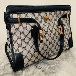 Gucci Bags - Vintage Gucci Blue Monogram GG Birkin Handbag